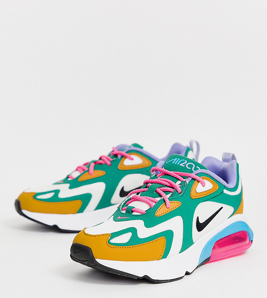 Nike Multi Air Max 200 Trainers Mystic greenwhite g