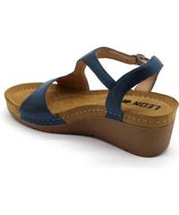 Vásárlás: Leon Comfortstep 1056 kék női bőr szandál 36 41