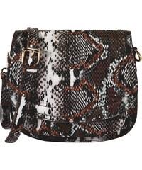 Sötét barna többszínű kézi táska