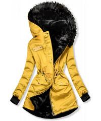 Meleg téli férfi sárga kabát tx3117   Bellago.hu