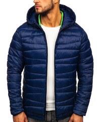 Férfi téli steppelt dzseki Jacopo kék