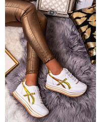 Luxus csillogó arany sportcipő strasszkövekkel BB111 17Z
