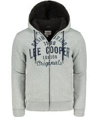 Lee Cooper kapucnis melegítő felső méret L világosszürke