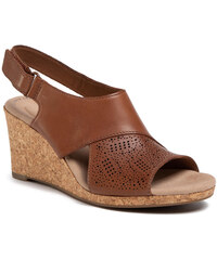 Szandál CLARKS Frances Sun K 261506557 Tan Leather