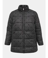 Fekete pöttyös steppelt téli kabát Zizzi Dot Női Kabátok