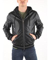 Ombre Clothing Férfi műbőr dzseki Reno fekete GLAMI.hu