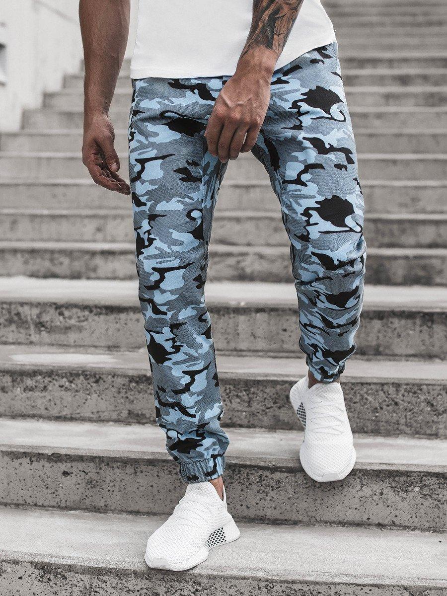 Férfi nadrág jogger camo bézs OZONEE O475