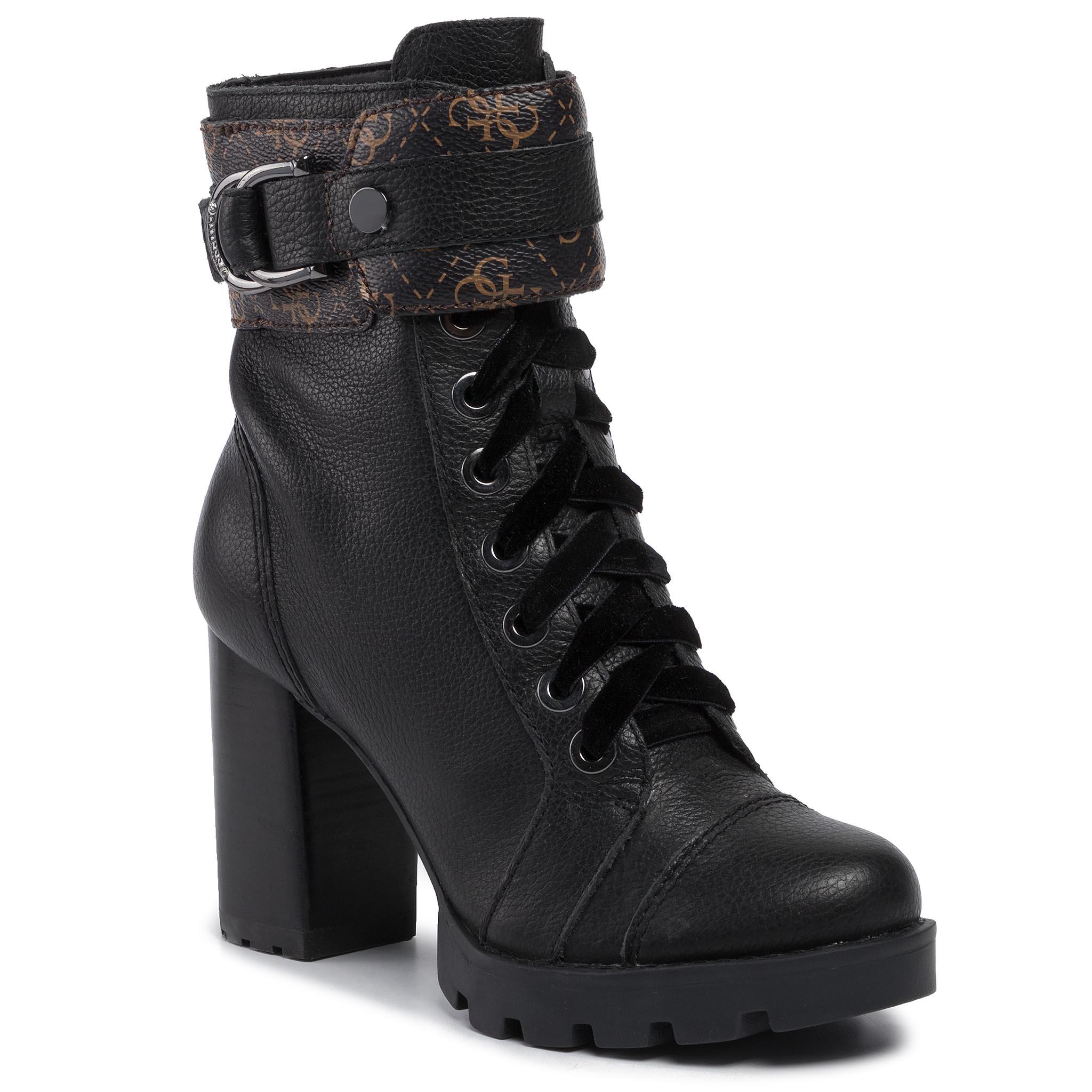 Magasított cipő GUESS Radell FL8RAD FAL10 BLACKBROWN
