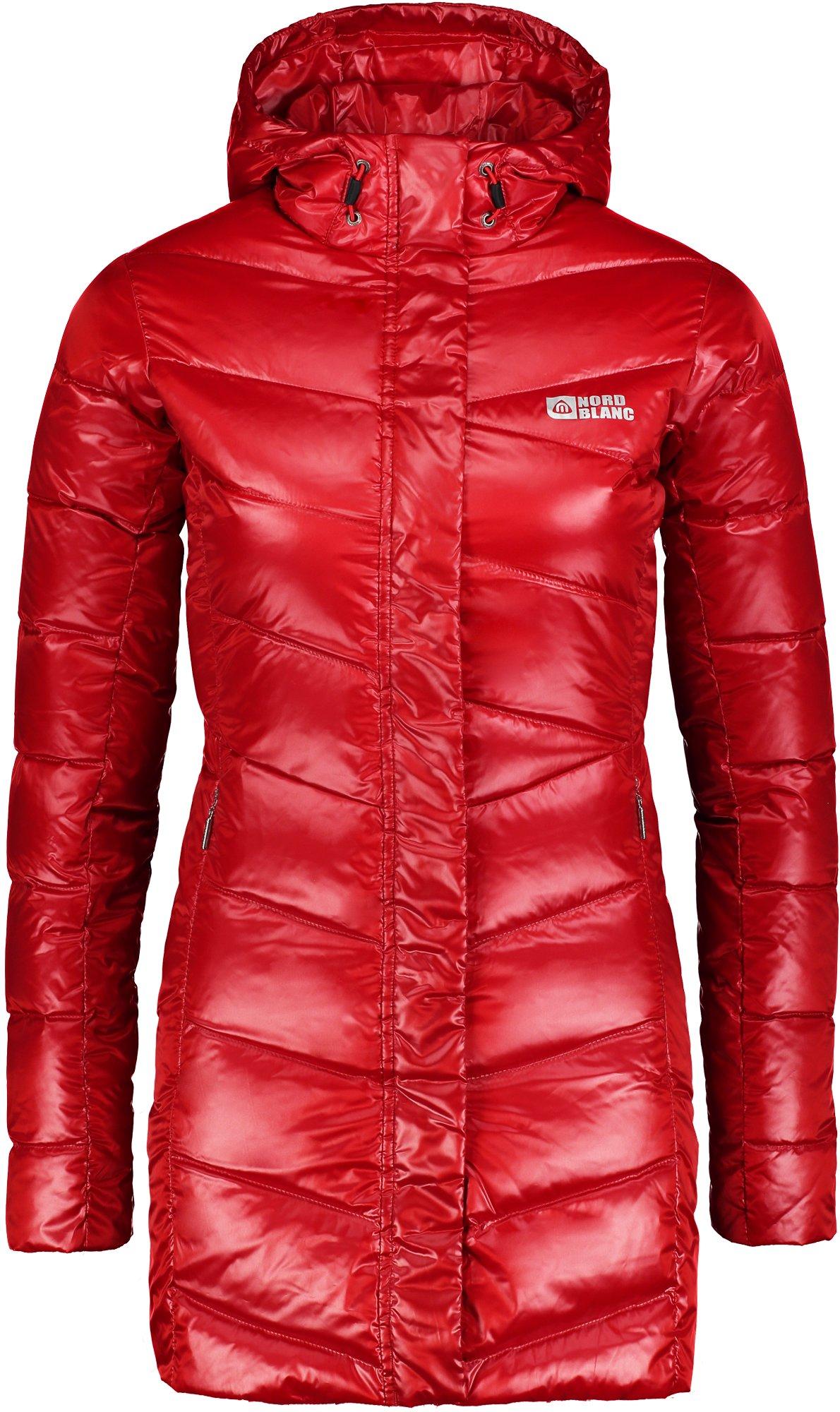 Piros női télikabát tollal tőltve ENDURE NBWJL5843 | NORDBLANC