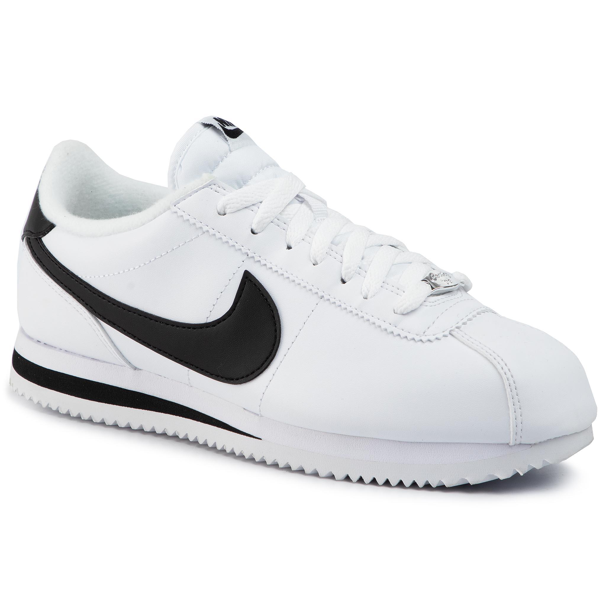 Cipő NIKE Cortez Basic Leather 819719 100 WhiteBlackMetallic Silver