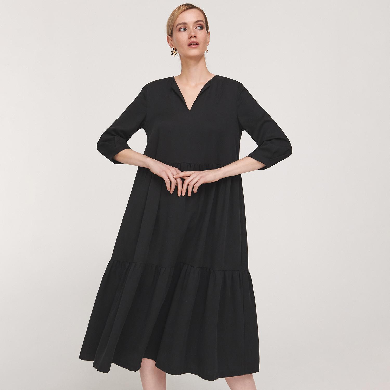 Reserved Trapéz ruha Fekete GLAMI.hu