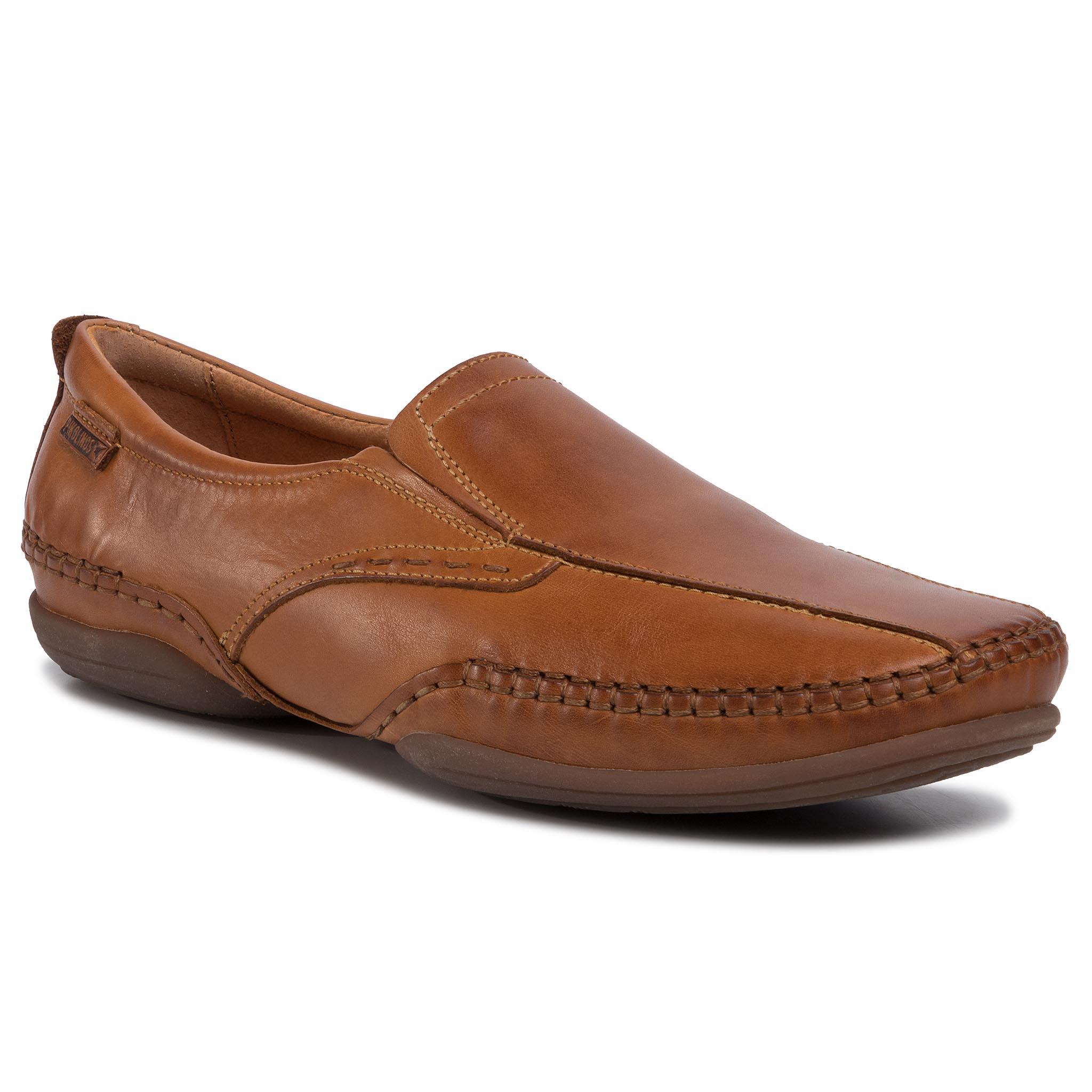 Férfi bőrcipő t318 barna