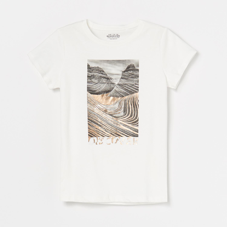 Reserved Lányka póló Krém