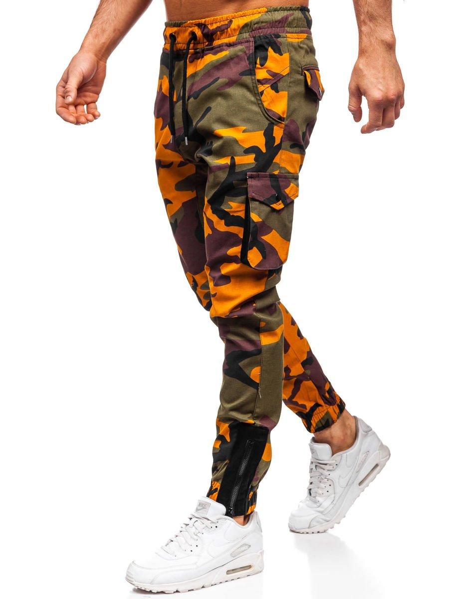Férfi katonai jogger nadrág barna színben Bolf 1005 GLAMI.hu