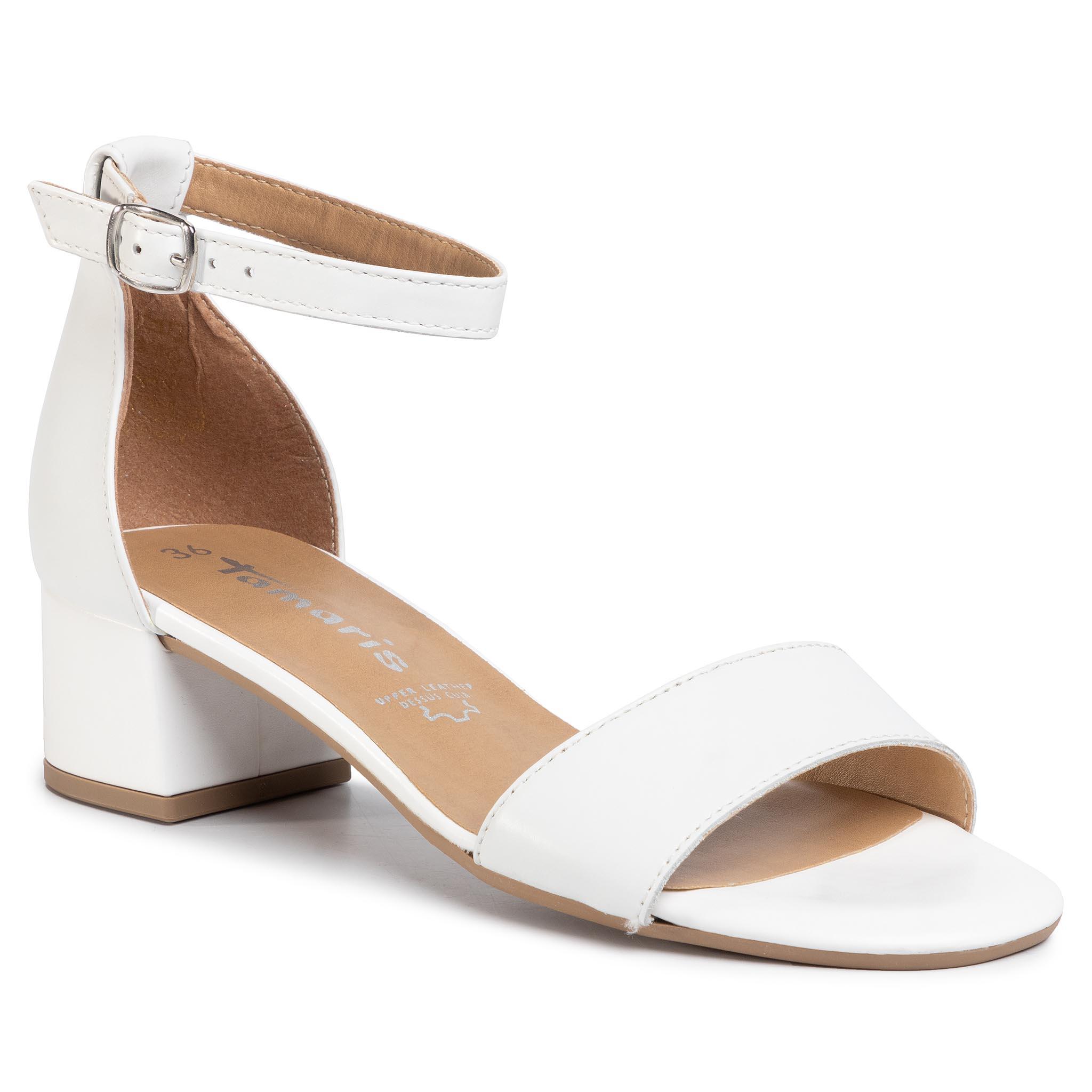 Szandál TAMARIS 1 28253 24 White Leather 117