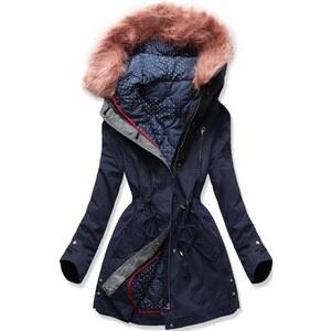 Női parka kabát kivehető béléssel rózsaszínű