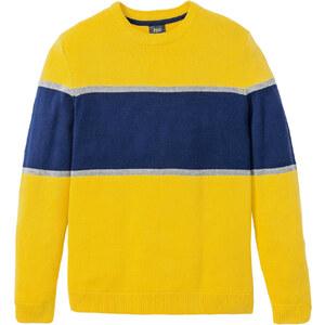 sárga norvégmintás pulóver