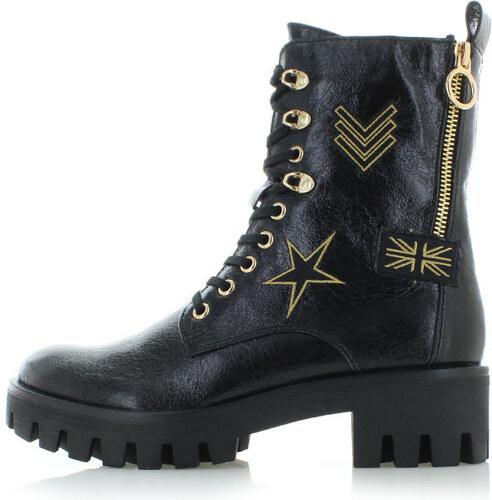 Vásárlás: Tamaris fűzős cipő lakkozott anyagból díszcsattal