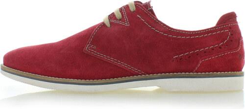 Férfi piros bőr félcipő Lucca