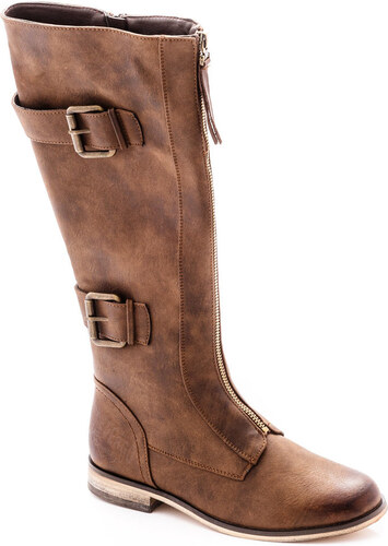 alkalmi cipő megfizethető áron legjobb választás Devergo női Lapos talpú csizma - GLAMI.hu