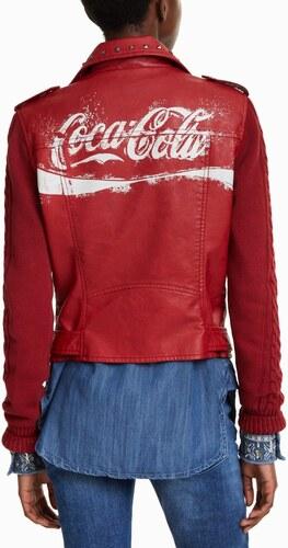 Desigual piros műbôr ervený dzseki Lucy Coca Cola GLAMI.hu
