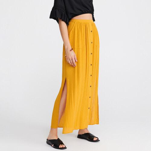 Reserved Jersey szoknya Sárga