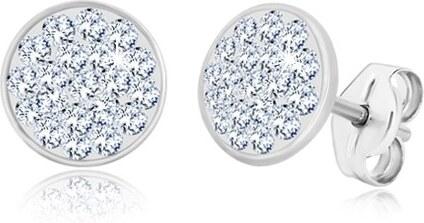 korlátozott mennyiség legjobb választás stabil minőség Ekszer Eshop - 925 ezüst fülbevaló - csillogó kör átlátszó ...