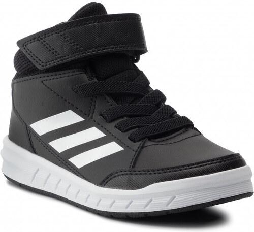 Adidas AltaSport Mid K Fiú Gyerek Cipő (Fekete Fehér) G27113