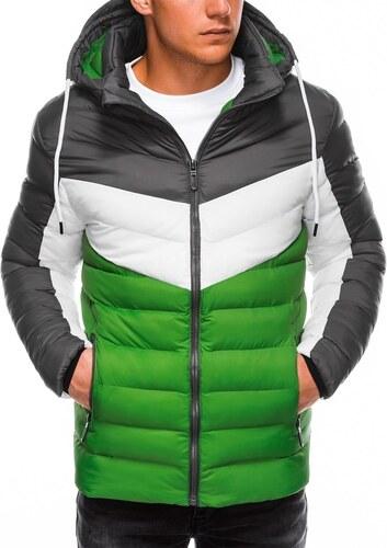 Ombre Clothing Neon zöld steppelt dzseki C371 GLAMI.hu