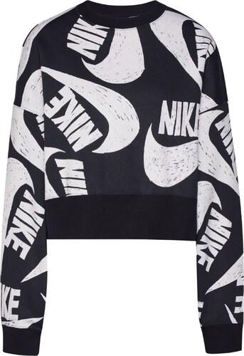 Nike Sportswear Tréning póló ' ICN CLSH FLC CREW' fehér