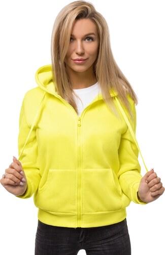Női dzseki Sárga neon OZONEE JBJP1141   OZONEE.HU