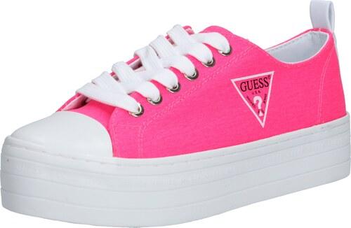 GUESS Rövid szárú edzőcipők neon rózsaszín GLAMI.hu
