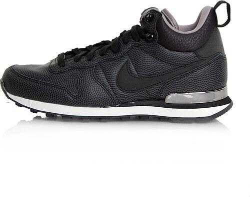 fast delivery sale online top design Nike WMNS Internationalist Mid Leather Shoes Black Black ...