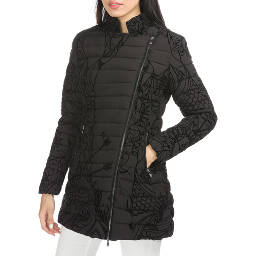 Desigual fekete kabát Lucille Női Kabátok, Dzsekik