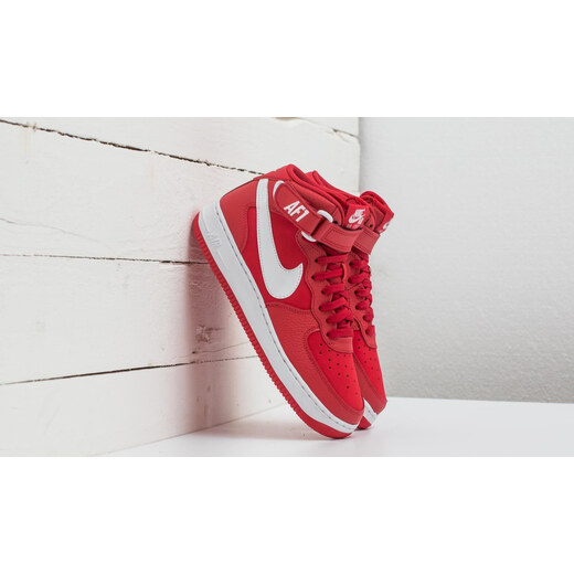 Nike Air Force 1 Mid (GS) University Red White GLAMI.hu