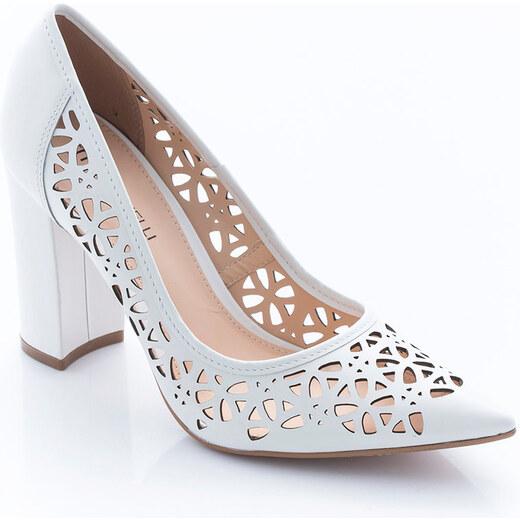 Fehér Montonelli Női Magassarkú cipő Kép | Női magassarkú