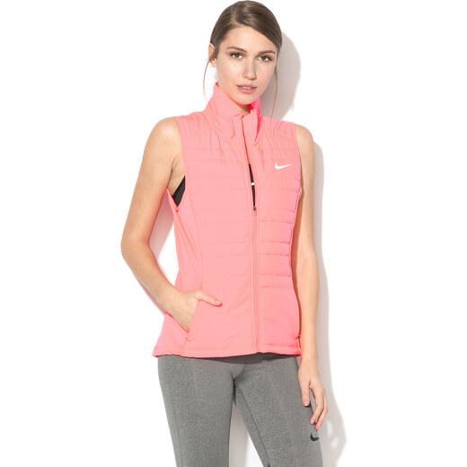 Nike, Futómellény rövid gallérral és polárbéléssel, Fekete, XL
