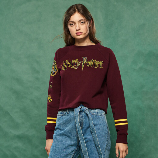 Sinsay Harry Potter rávarrós pulcsi Bordó GLAMI.hu