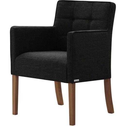 Freesia fekete bükk szék sötétbarna lábakkal Ted Lapidus Maison
