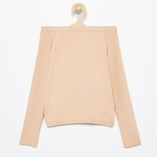nyitott vállú pulóver