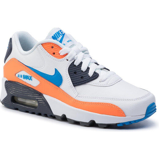 Cipő NIKE Air Max 90 Ltr (GS) 833412 116 WhitePhoto Blue
