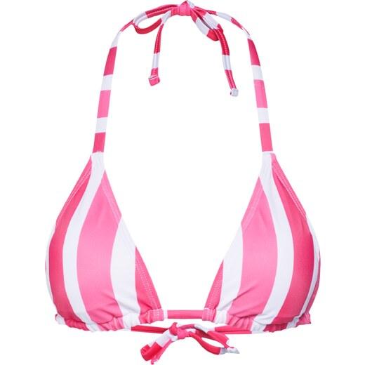 Hunkemöller Bikini felső 'Candy Stripes Triangle' rózsaszín