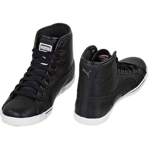 Puma Benecio Mid Leather férfi cipő Fekete