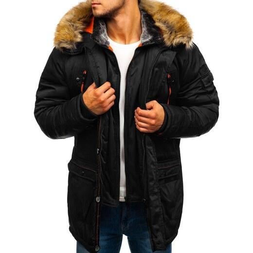 Férfi téli parka dzseki fekete Bolf 1045A GLAMI.hu