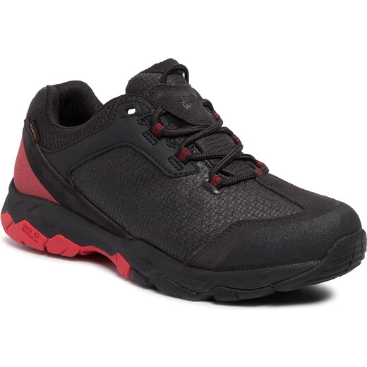 Bakancs JACK WOLFSKIN Rock Hunter Texapore Low M 4032431 BlackRed