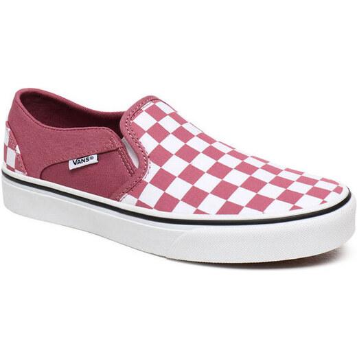 Vans Checkerboard Kockás Slip On Cipő Női Rózsaszín Fehér