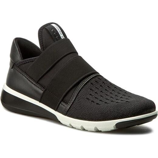 Sportcipő ECCO - Leisure 20503350263  Black/Powder - Sneakers - Félcipő - Női