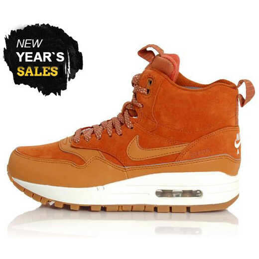 Nike WMNS Air Max 1 Mid Sneackerboot Tawny Sail Gum Med